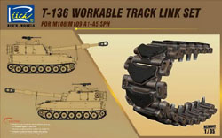 Rich Models T-136 Workable Track Link 1:35, LIST PRICE $22