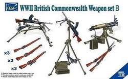 Rich Models WW-II BRIITISH WEAPON SET 1:35, LIST PRICE $18.95