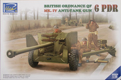Rich Models BRIT ORDNANCE QT 6pdr 1:35, LIST PRICE $42