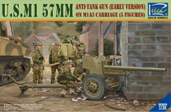 Rich Models M1 57mm Anti-Tank Gun 1:35, LIST PRICE $60.5