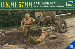 Rich Models US M1 57mm Anti-Tank GUN 1:35, LIST PRICE $43.5