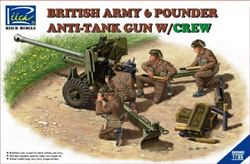 Rich Models British 6pdr Anti-Tank Gun :35, LIST PRICE $57.25