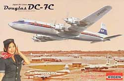 Roden Plastic Kits 1/144 DC-7C Japan Air Lines, LIST PRICE $31.99