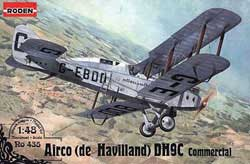 Roden Plastic Kits 1/48 De Havilland DH9C New!, LIST PRICE $37