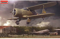 Roden Plastic Kits 1/48 Beechcraft UC-43 Traveller, LIST PRICE $56