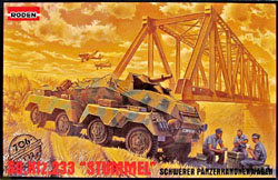 Roden Plastic Kits Sd.Kfz.233 STUMMEL 1:72 , LIST PRICE $11