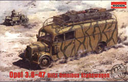 Roden Plastic Kits 8.8cm FLAK on Sd.Kfz.Vomag :72, LIST PRICE $31