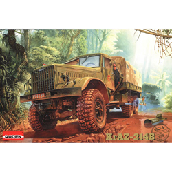 Roden Plastic Kits 1/35 KRAZ-214B General Purpose Truck, LIST PRICE $70