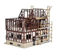 Vollmer HO Half-Timbered Bldg Shell, LIST PRICE $28.99