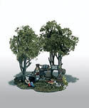 Woodland Scenics HO MOONSHINE STILL MINI SCENE, LIST PRICE $23.99