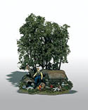 Woodland Scenics THE HUNTER MINI SCENE, LIST PRICE $23.99