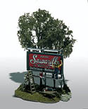 Woodland Scenics THE SIGN PAINTER MINI SCENE, LIST PRICE $23.99