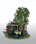 Woodland Scenics THE TACK SHED MINI SCENE, LIST PRICE $23.99