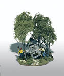 Woodland Scenics OUTHOUSE MISCHIEF MINI SCENE, LIST PRICE $23.99