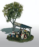 Woodland HO ERNIE'S FRUIT STAND MINI SCENE, LIST PRICE $23.99