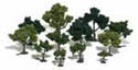 "Woodland Scenics 3/4 3""MIX DECIDUOS TREES 36/KT, LIST PRICE $19.99"