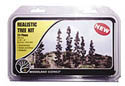 "Woodland Scenics 2 1/2 6""FOREST GRN TREES 24/KT, LIST PRICE $16.99"
