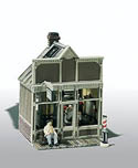 Woodland Scenics HO FLOYD'S BARBER SHOP MINI SCENE, LIST PRICE $23.99