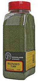 Woodland Scenics GREEN BLEND FINE TURF, LIST PRICE $10.99