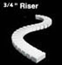 "Woodland 3/4"" RISER 4/PKG 2' EA, LIST PRICE $9.99"