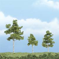 "Woodland Scenics 1 1/2 3"" PREM PAPER BIRCH 3/PK, LIST PRICE $14.99"