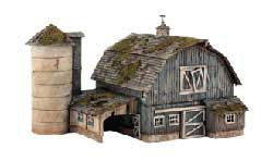 Woodland HO Kit DPM Rustic Barn, LIST PRICE $64.99