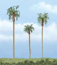 "Woodland Scenics 3 4 1/2"" ROYAL PALM 3/PK, LIST PRICE $21.99"