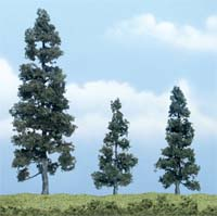 "Woodland Scenics 2 1/2 5 1/8"" PREM JUNIPER 3/PK, LIST PRICE $19.99"
