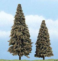 "Woodland Scenics 3 4"" PREM CONIFER 2/PK, LIST PRICE $8.99"