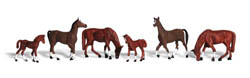 Woodland Scenics HO CHESTNUT HORSES, LIST PRICE $16.99