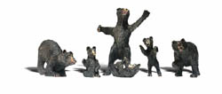 Woodland Scenics HO BLACK BEARS, LIST PRICE $16.99