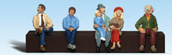 "Woodland Scenics 1/8"" SEATED PEOPLE, LIST PRICE $15.99"