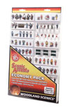 Woodland Scenics HO ASSORTED FIGURES ECONOMY PK, LIST PRICE $130