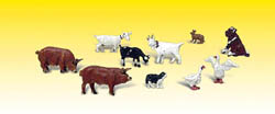 Woodland Scenics N BARNYARD ANIMALS, LIST PRICE $14.99
