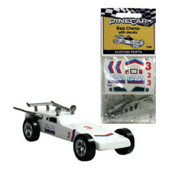 Woodland Scenics BAJA CHAMP CUSTM PARTS W/DECAL, LIST PRICE $6.99