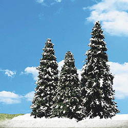 "Woodland Scenics 2 "" 3 1/2"" SNOW DUSTED 5/PK, LIST PRICE $12.99"