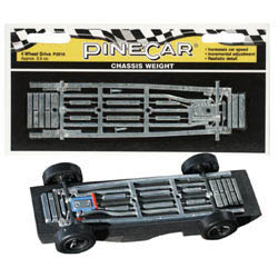 Woodland Scenics 4 WHEEL DRIVE CHASSIS WEIGHT, LIST PRICE $5.79