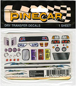 Woodland RACER ACCESSORIES DRY TRANSFER, LIST PRICE $3.99