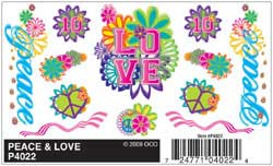 Woodland PEACE & LOVE DRY TRANSFER, LIST PRICE $3.99