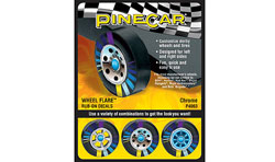Woodland Scenics CHROME WHEEL FLARE, LIST PRICE $3.99