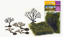 "Woodland 1 1/4 3"" TREE KIT 5/KIT, LIST PRICE $4.49"