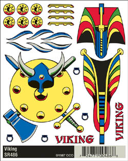 Woodland VIKING DRY TRANSFERS, LIST PRICE $5.99