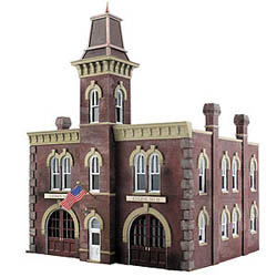 Woodland HO FIREHOUSE, LIST PRICE $99.99