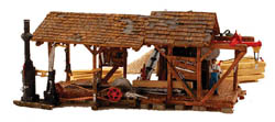 Woodland Scenics HO BUZZ'S SAWMILL, LIST PRICE $79.99