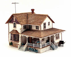 Woodland HO CORNER PORCH HOUSE, LIST PRICE $89.99