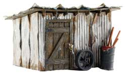 Woodland HO Built-Up Tin Shack, LIST PRICE $27.99