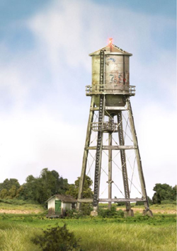 Woodland HO BU Rustic Water Tower - lighted, LIST PRICE $114.99