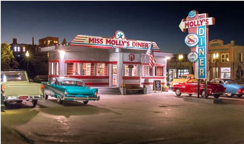 Woodland HO MISS MOLLY'S DINER , LIST PRICE $98.99