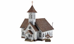 Woodland Scenics HO COUNTRY CHURCH, LIST PRICE $59.99
