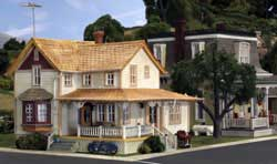 Woodland HO Corner Porch House, LIST PRICE $66.99